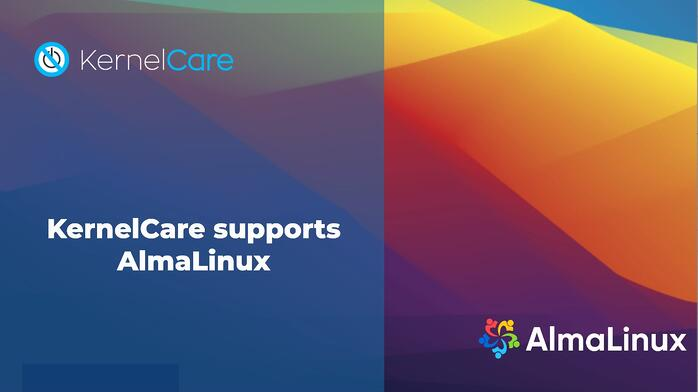 KernelCare supports AlmaLinux OS