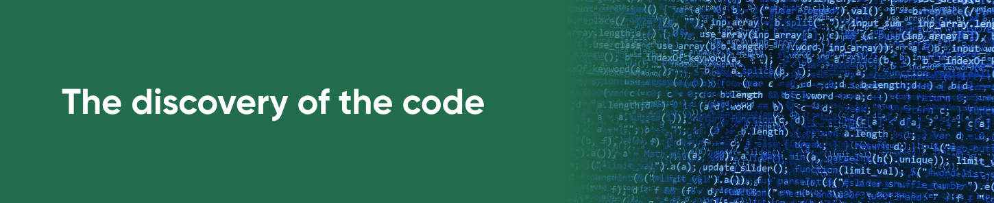 The discovery of the code