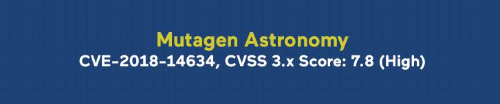 Mutagen astronomy