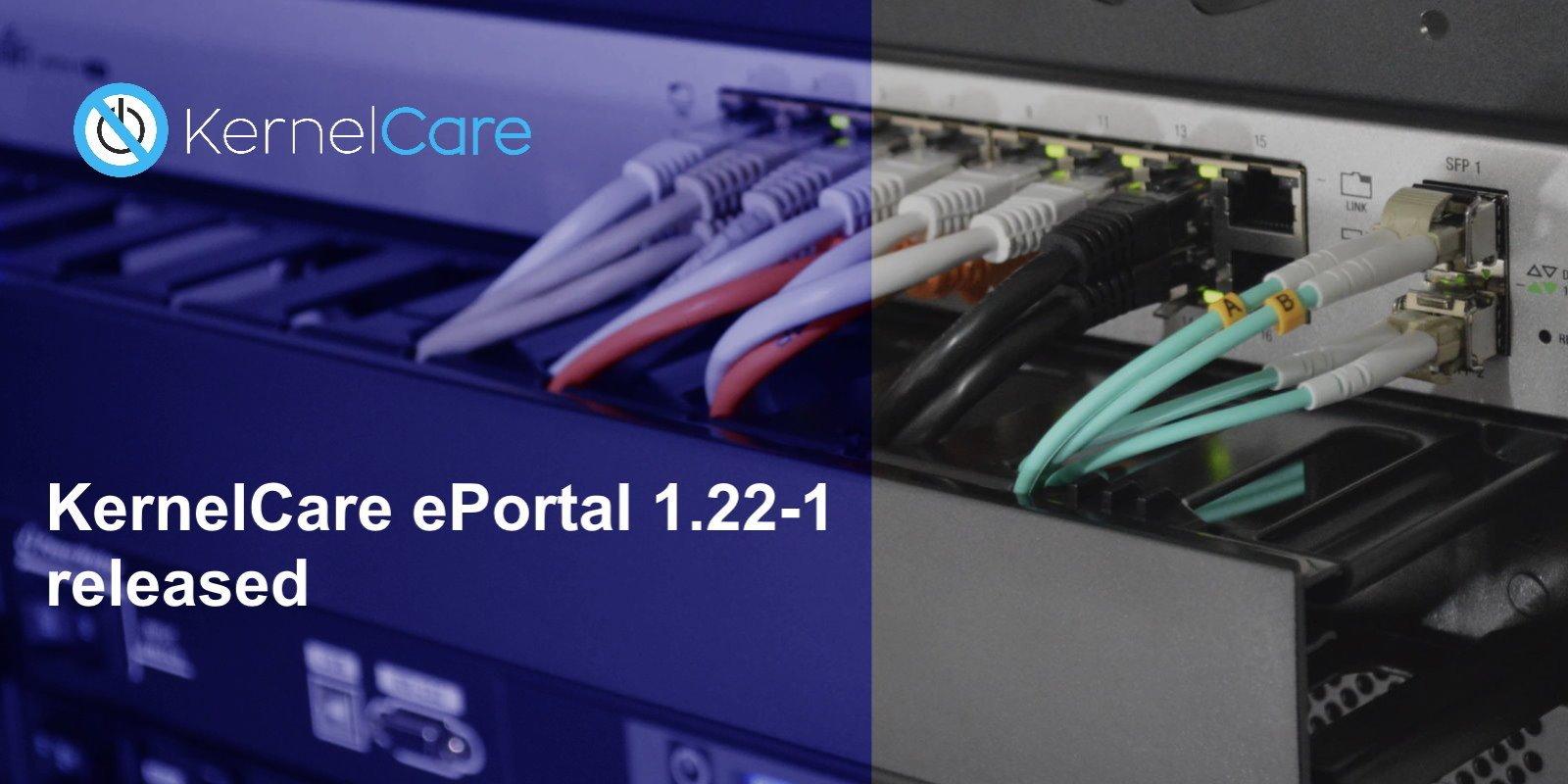 KernelCare ePortal 1.22-1 released