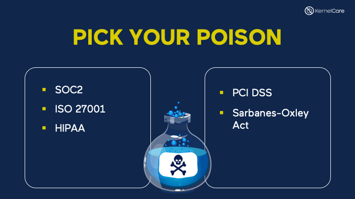 slide with poison bottle and IT security standards